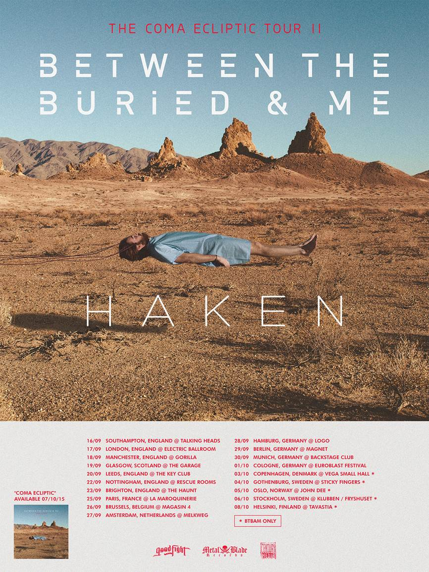 BETWEEN THE BURIED AND ME announce European tour for the fall! New ...