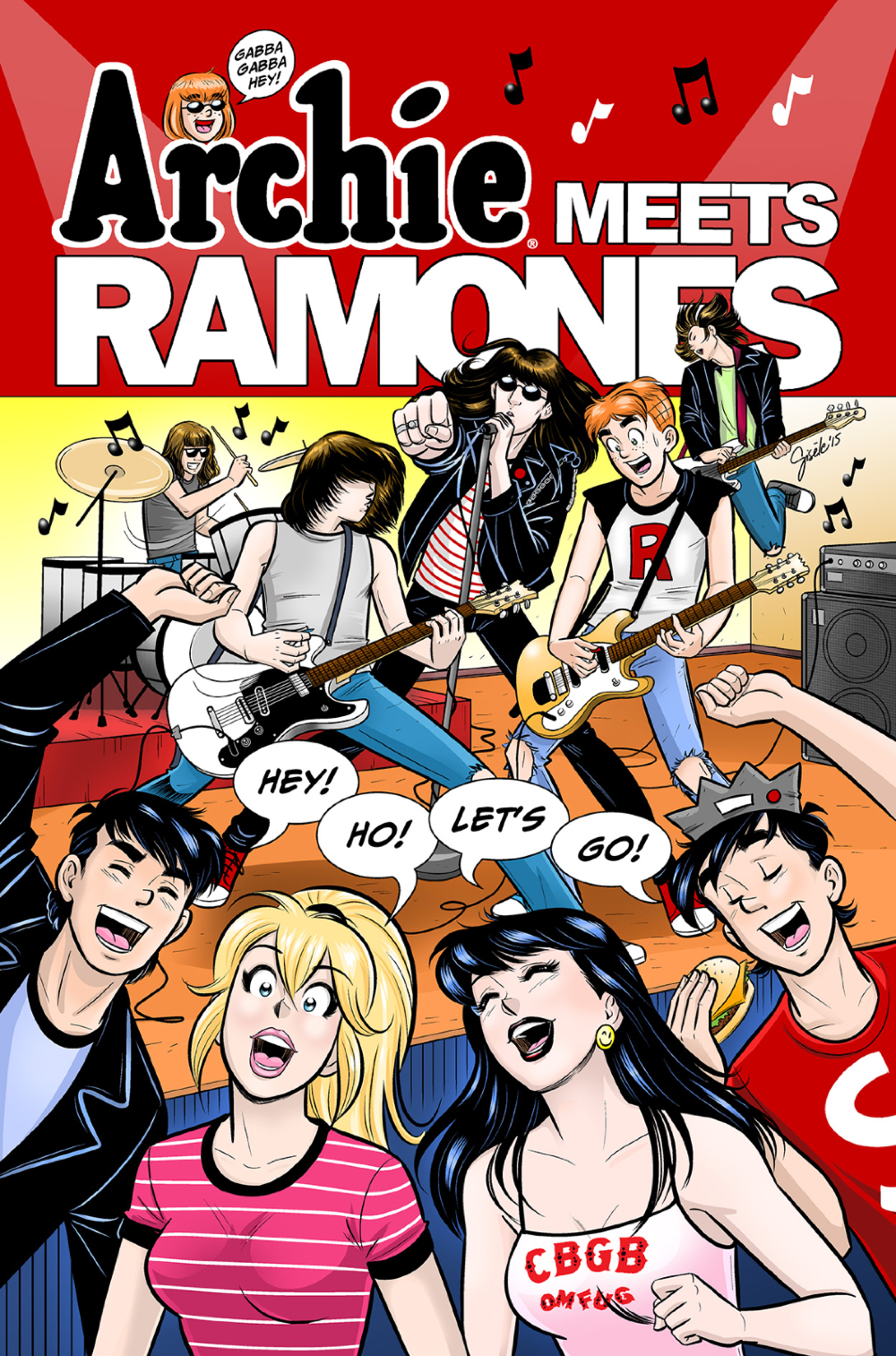 ARCHIE MEETS RAMONES Promotional Artwork by Gisele