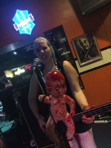 Sister Bess Grotesque bass player for BDSM at PKs roadhouse 10-24-15